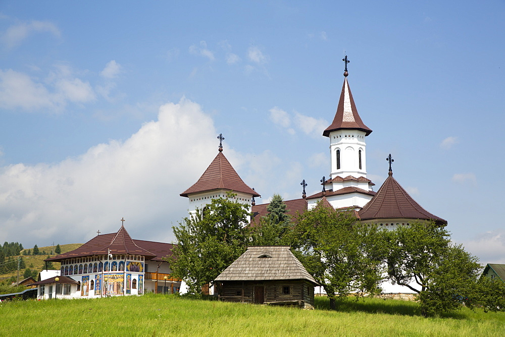 Orthodox Monastery, Gura Humorului, Suceava County, Romania, Europe - 801-2731