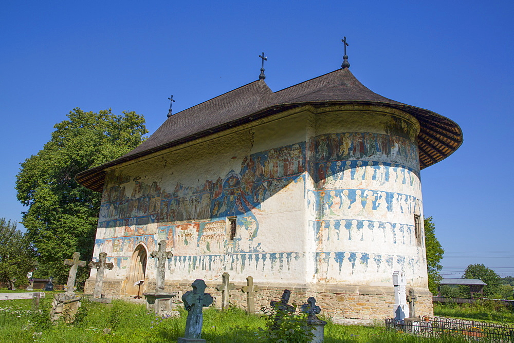 Arbore Monastery, 1502, UNESCO World Heritage Site, Arbore, Suceava County, Romania, Europe
