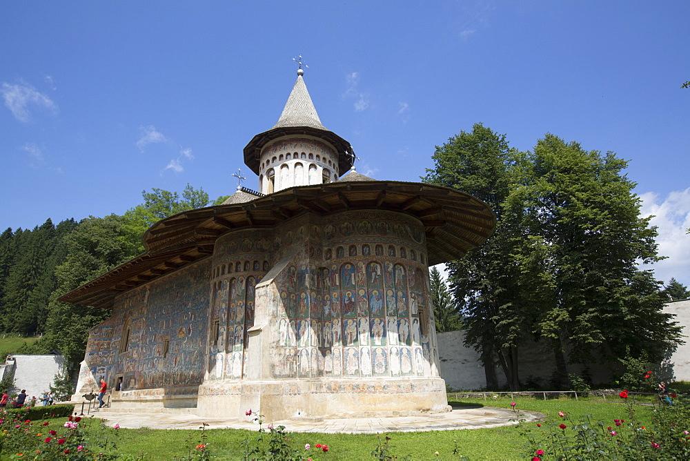 Voronet Monastery, 1488, UNESCO World Heritage Site, Gura Humorului, Suceava County, Romania, Europe - 801-2743