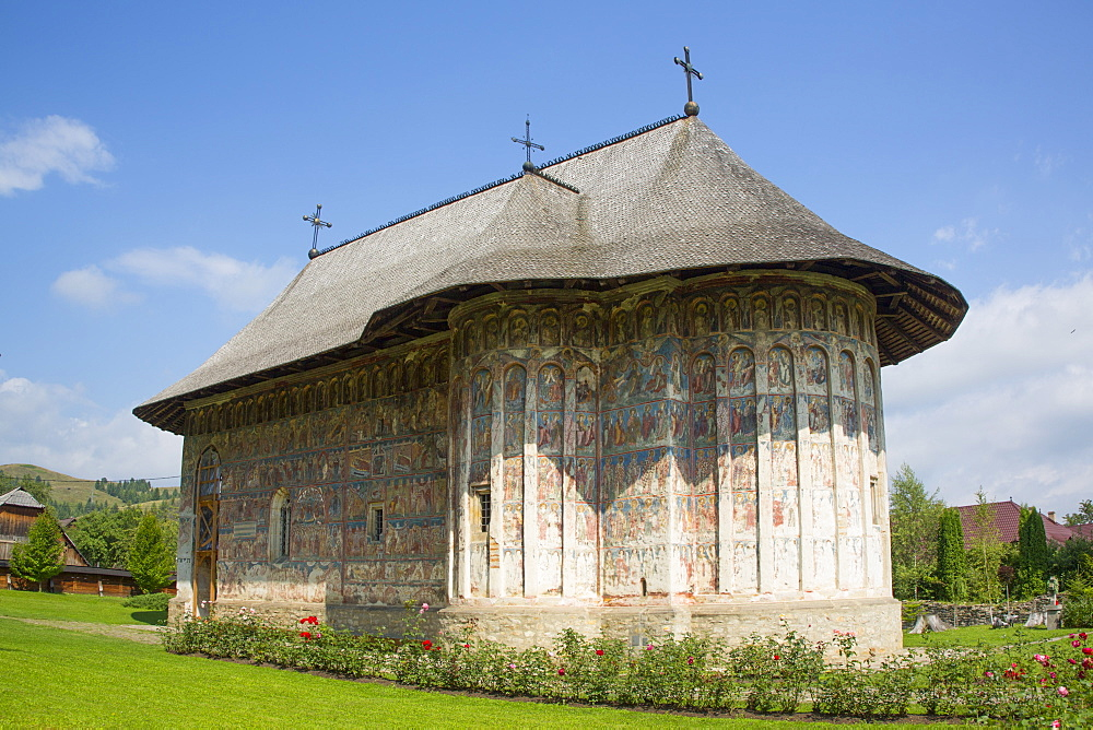 Humor Monastery, 1530, UNESCO World Heritage Site, Manastirea Humorului, Suceava County, Romania, Europe