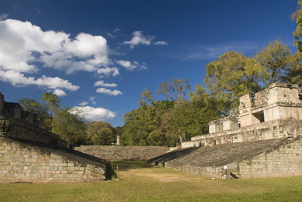 Ball Court, Copan Archaeological Park, UNESCO World Heritage Site, Copan, Honduras, Central America