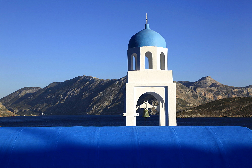 Church by the sea, Kalymnos, Dodecanese, Greek Islands, Greece, Europe
