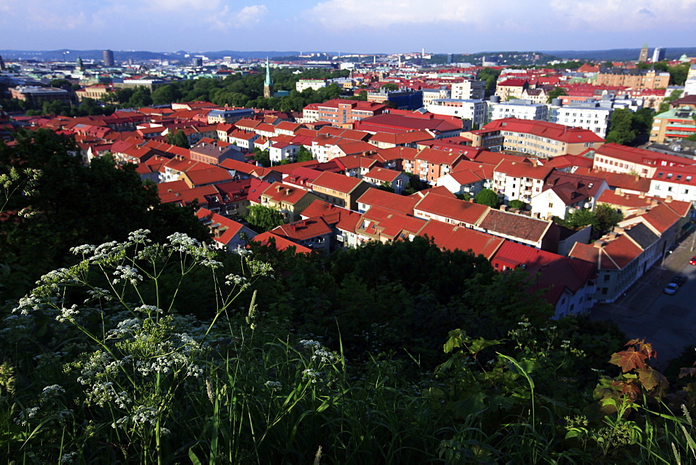 Panoramic view of the city in high summer, Gothenburg, Sweden, Scandinavia, Europe