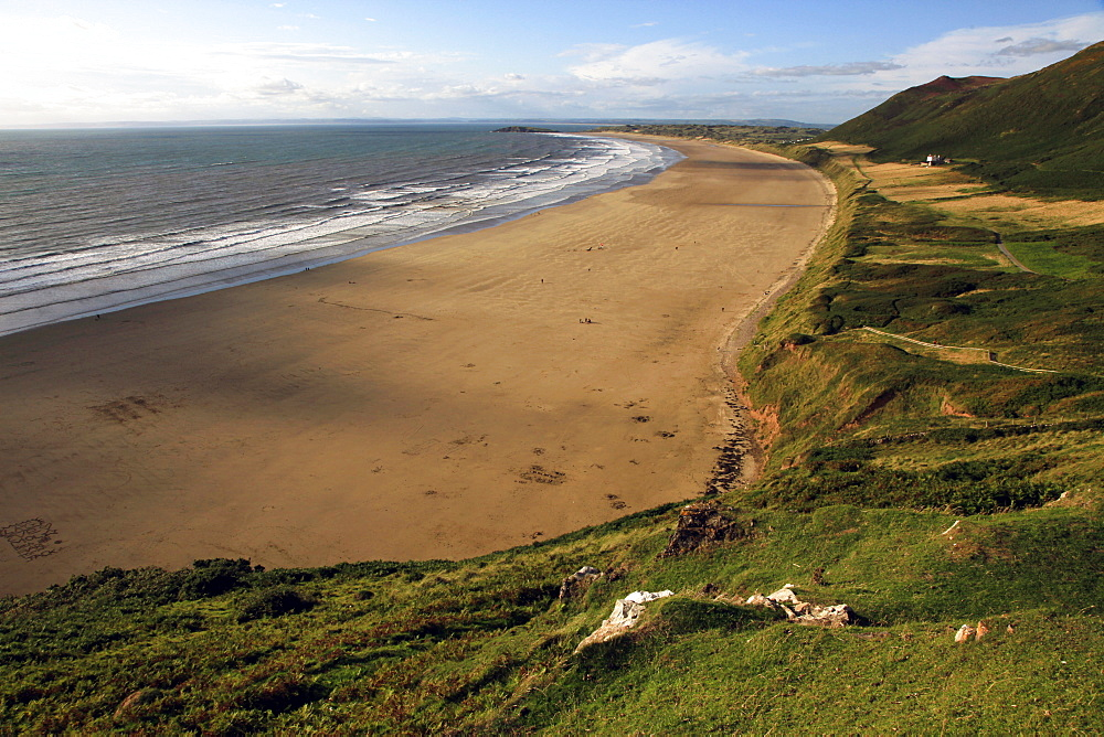 Rhossili Beach, Gower Peninsula, Wales, United Kingdom, Europe