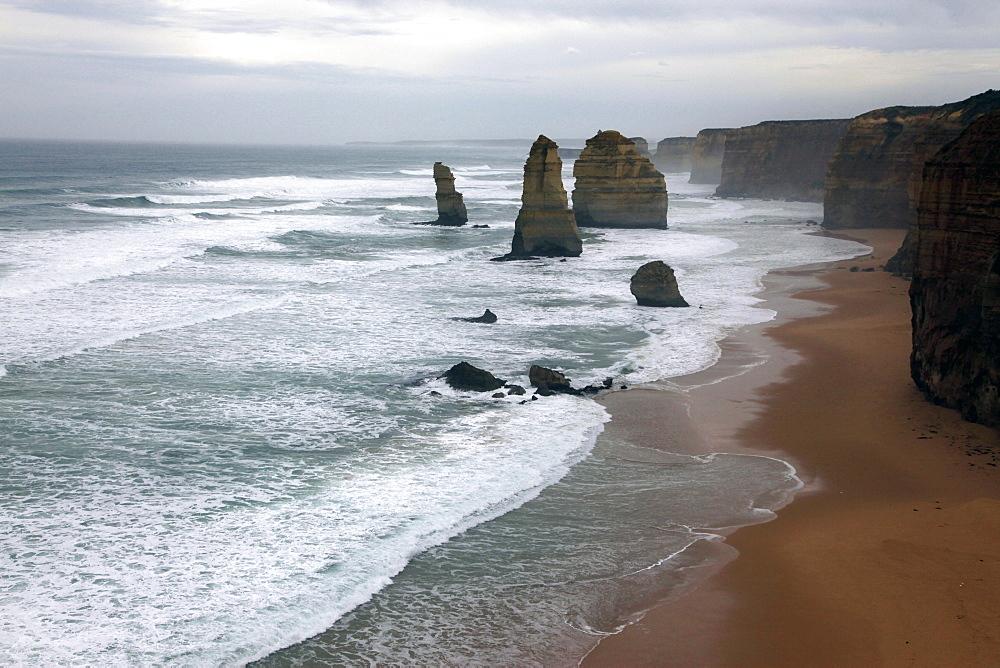 The Twelve Apostles on the Great Ocean Road, Victoria, Australia, Pacific