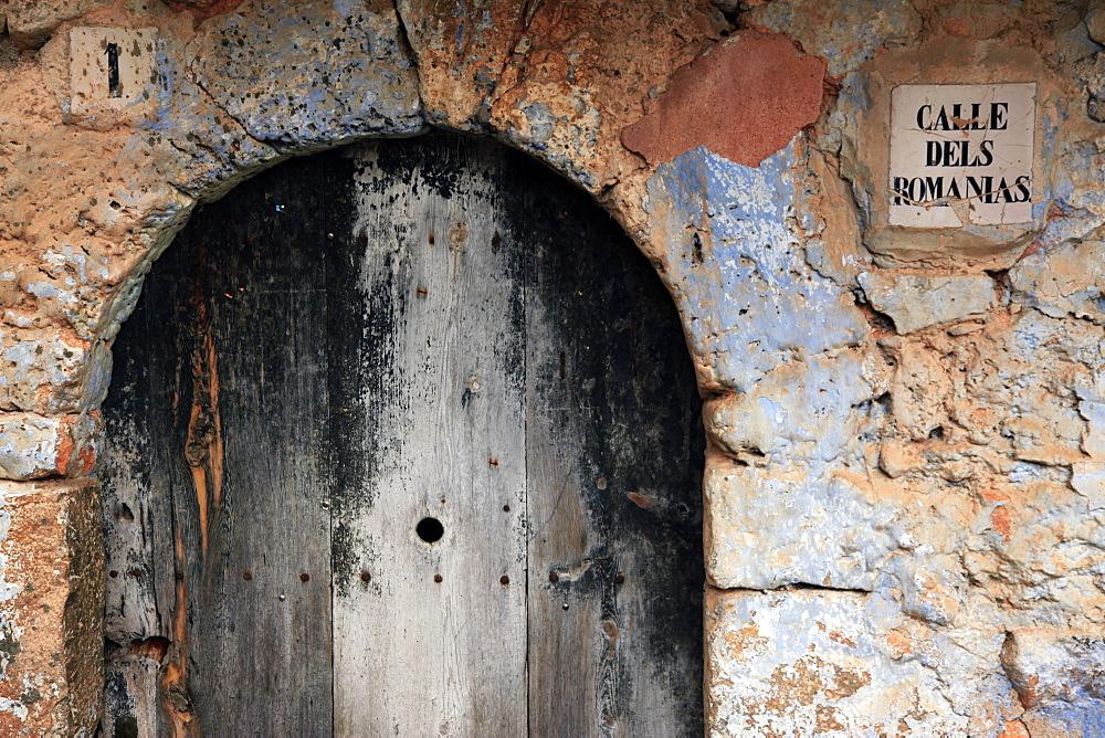 Doorway in Figols, Catalunya, Spain, Europe - 802-277