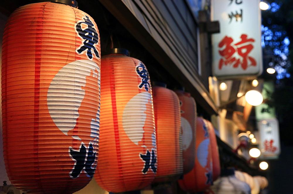 Japanese lanterns, Ginza district, Tokyo, Japan, Asia - 802-321