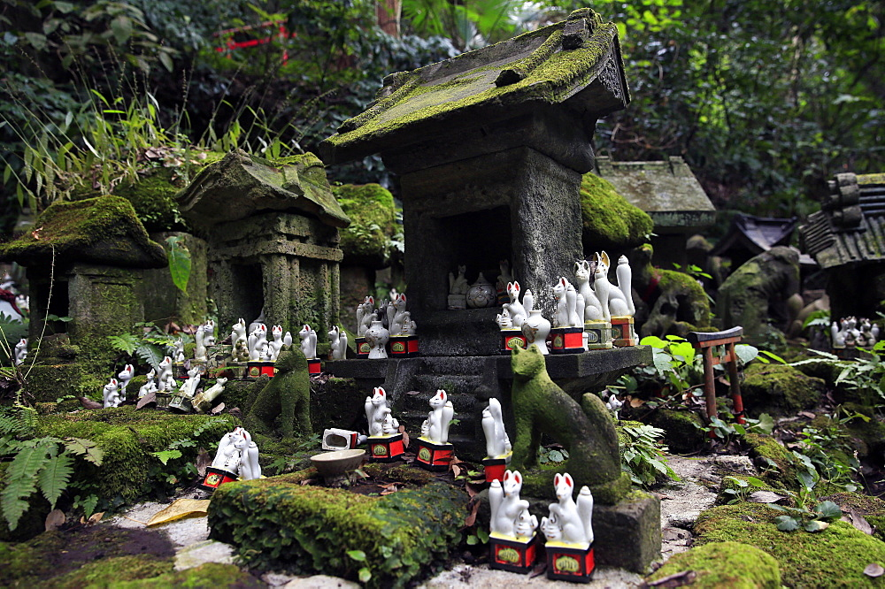Shinto shrine in the Kamakura hills, Honshu, Japan, Asia