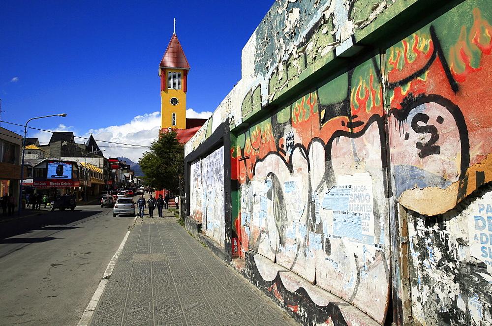 Street scene in Ushuaia, Tierra del Fuego, Argentina, South America