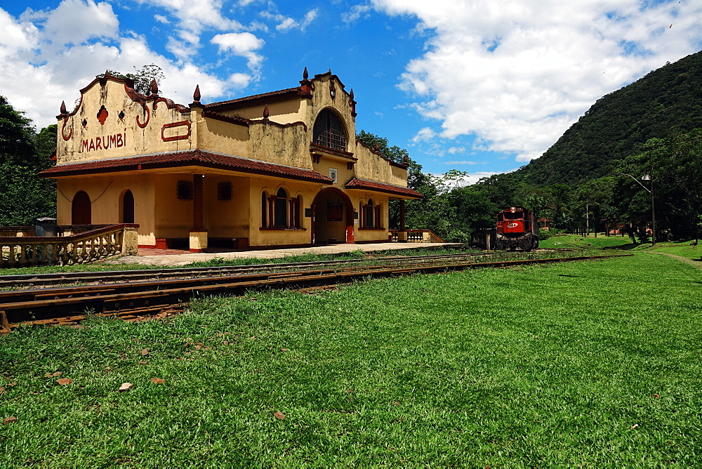 The station in the jungle at Marumbi, a mountain in Parana state, south Brazil