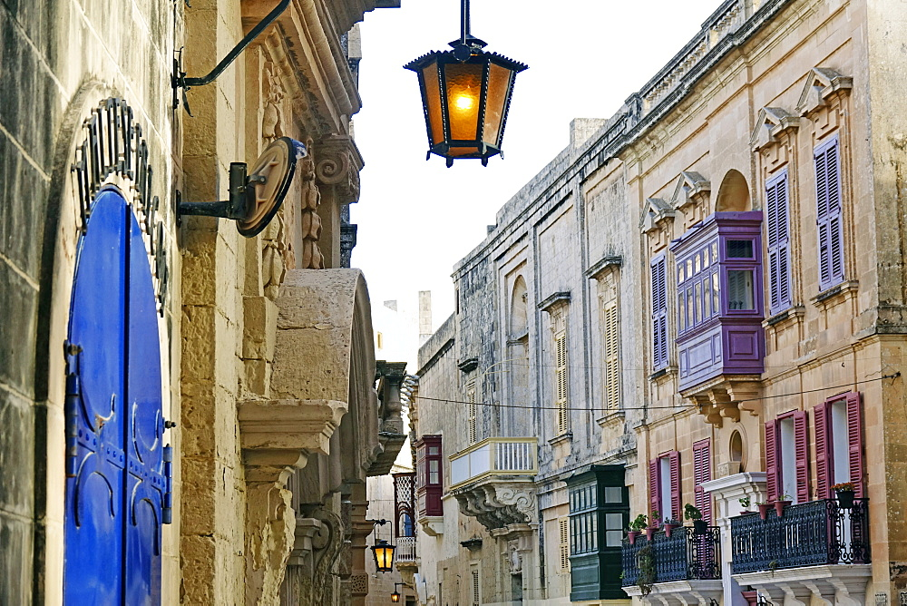Street in Mdina (The Silent City), Malta, Europe