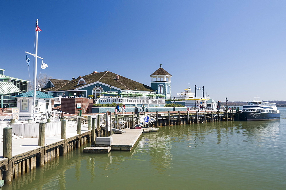 Marina and waterfront of Old Town, Alexandria, Virginia, United States of America, North America