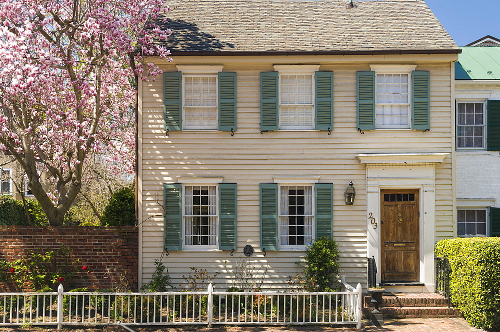 Traditional timber house in Alexandria Old Town, Virginia, United States of America, North America