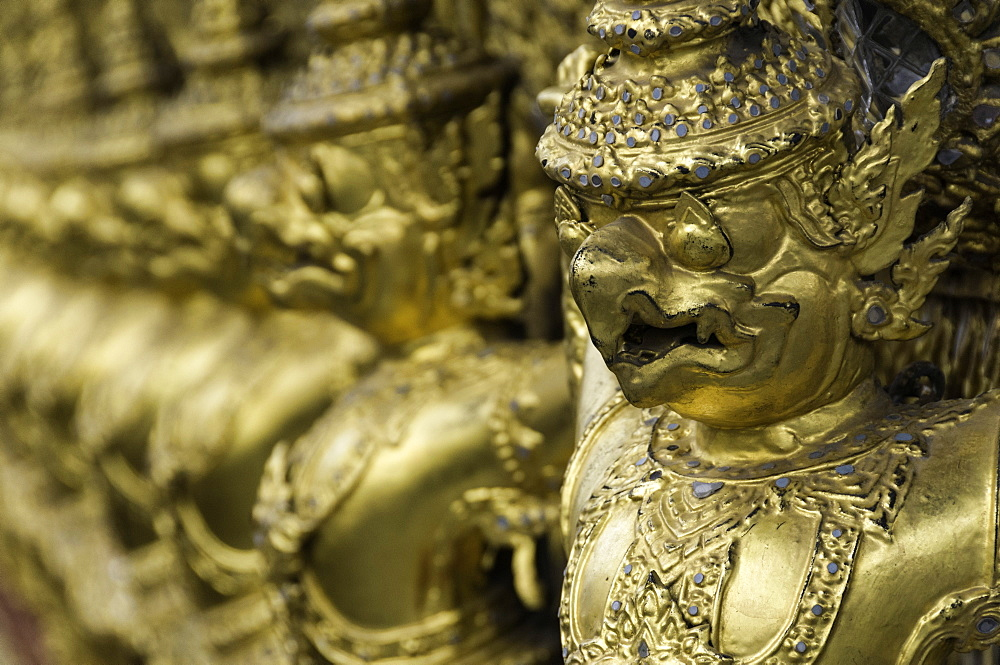 Detail at the Temple of the Emerald Buddha (Wat Phra Kaew), the Royal Palace, Bangkok, Thailand, Southeast Asia, Asia