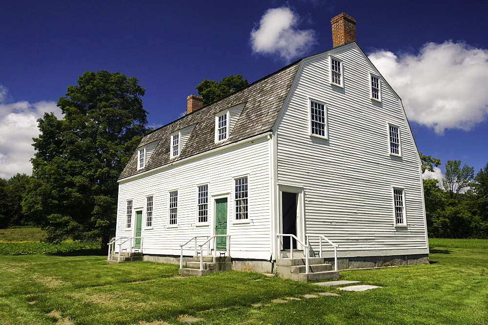 The meeting house dating from about 1793, in Hancock Shaker Village, Hancock, Massachusetts, New England, United States of America, North America - 803-189