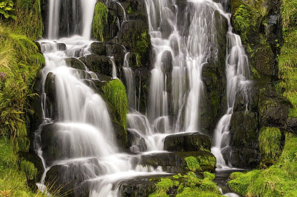 Waterfall near the Old Man of Storr on the Isle of Skye, Inner Hebrides, Scotland, United Kingdom, Europe - 803-241