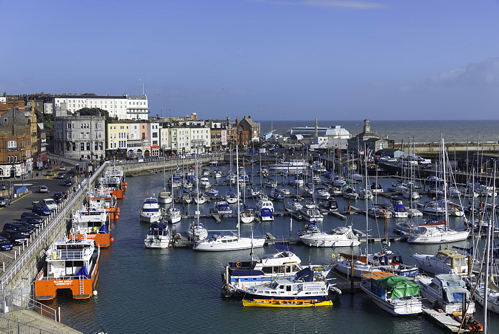 View of the Royal Harbour and Marina at Ramsgate, Kent, England, United Kingdom, Europe - 803-245