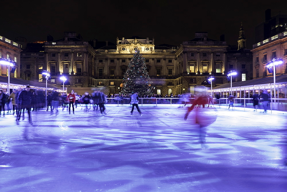 Skating at Somerset House in London, England, United Kingdom, Europe - 803-249