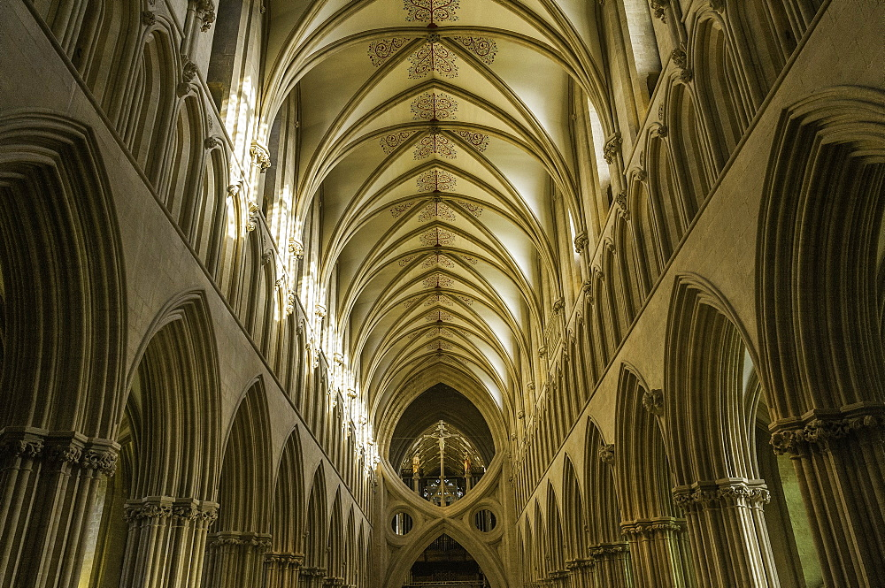 The interior of Wells Cathedral, Somerset, England, United Kingdom, Europe - 803-278