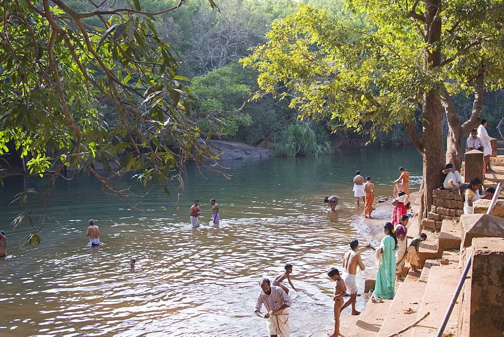 Souparnika river, Mookambika, Kollur, Karnataka, India, Asia - 804-367