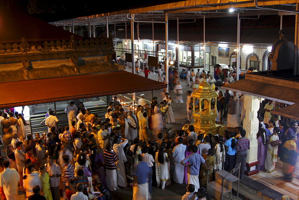 Devotees at Mookambika Temple, Kollur, Karnataka, India, Asia - 804-371