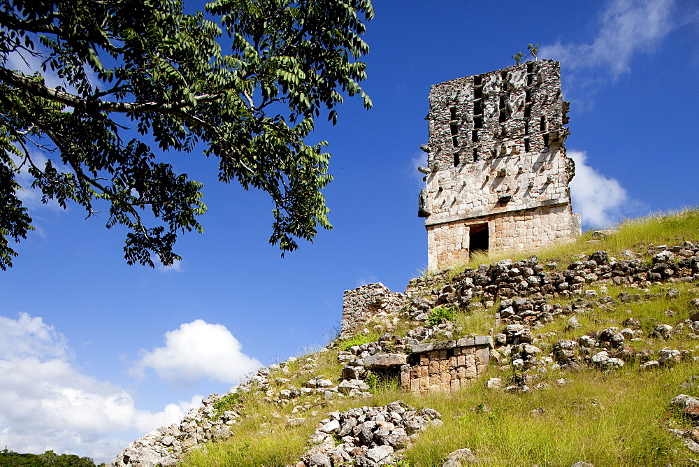 El Mirador (Watch Tower) (Observator), Mayan ruins, Labna, Yucatan, Mexico, North America - 804-401