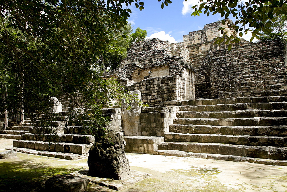 Mayan ruins, Calakmul, UNESCO World Heritage Site, Calakmul Biosphere Reserve, the largest tropical forest reserve in Mexico, Campeche, Mexico, North America - 804-419