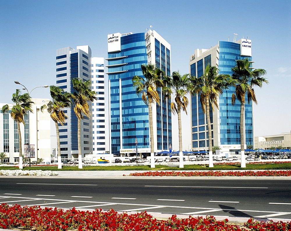High rise buildings, Doha, Qatar, Middle East - 804-71