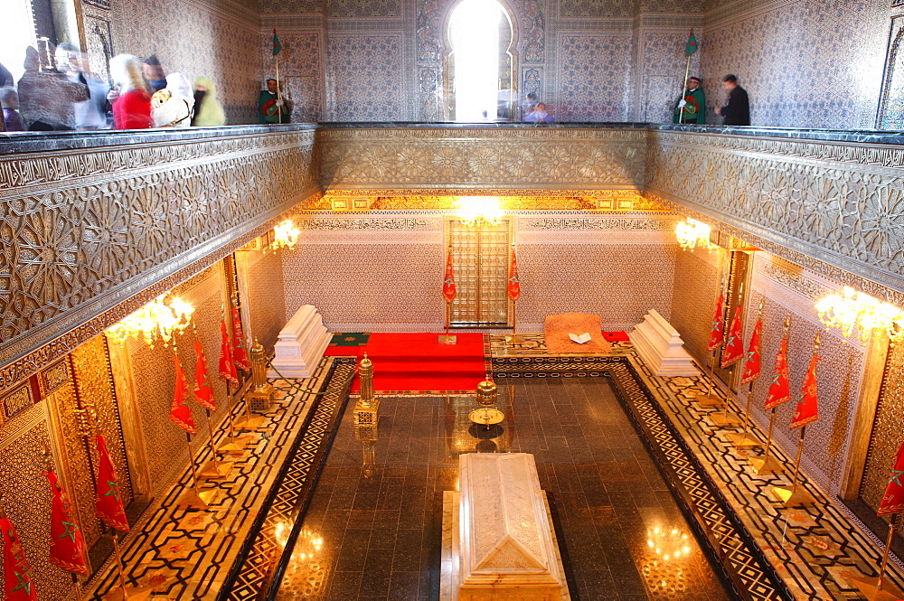 Interior of the Mausoleum of Mohammed V, Rabat, Morocco, North Africa, Africa - 806-246