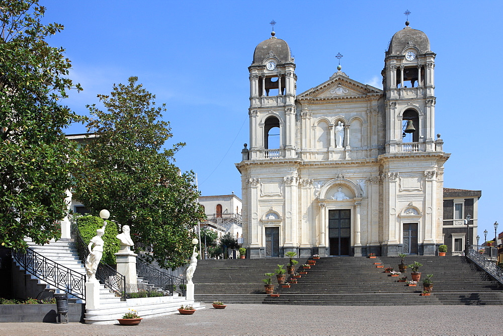 Duomo, Zafferana Etnea, Sicily, Italy, Europe - 806-258