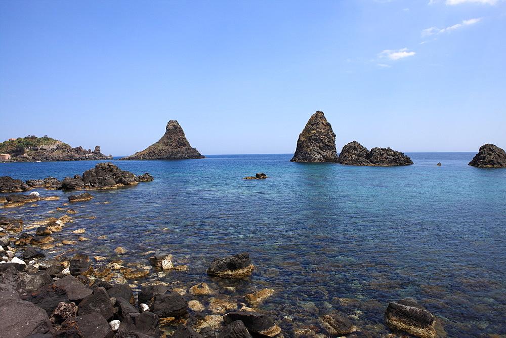 Faraglioni, Acitrezza, Catania Province, Sicily, Italy, Mediterranean, Europe - 806-292