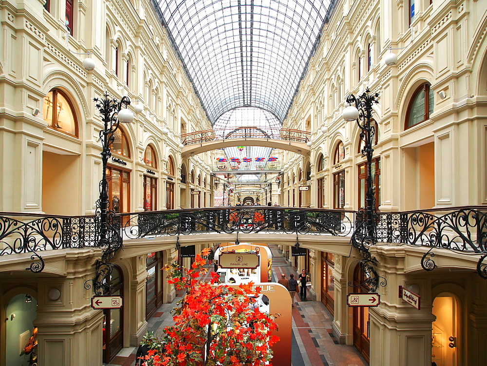 Interior of the GUM Shopping Centre on Red Square, Moscow, Russia, Europe - 806-312