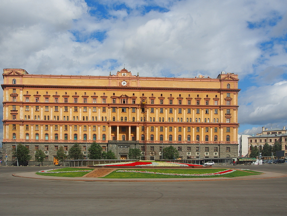 The infamous former headquarters of the KGB on Lubyanka Square, Moscow, Russia, Europe - 806-318