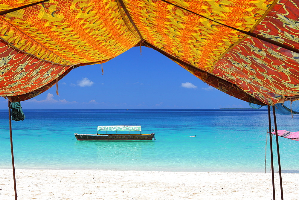 Beach, Pange Island, Zanzibar, Tanzania, East Africa, Africa - 806-319