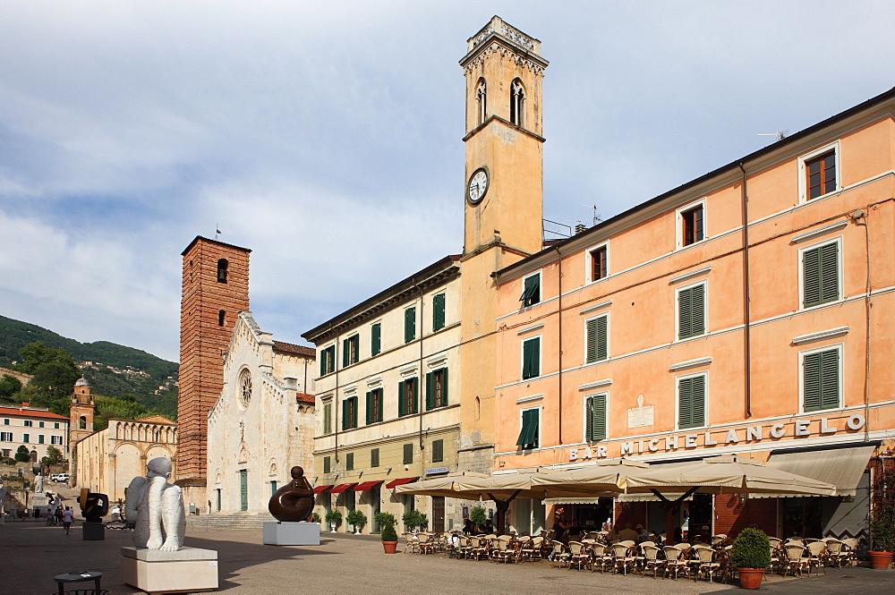 Duomo Square, Pietrasanta, Tuscany, Italy, Europe - 806-327