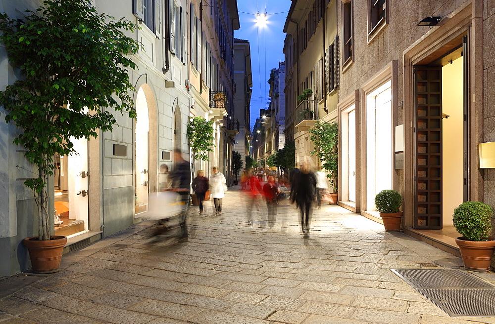 Via Della Spiga, Milan, Lombardy, Italy, Europe - 806-333