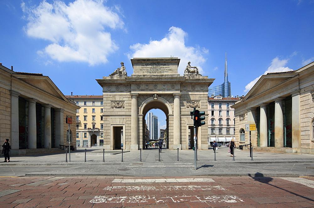 Porta Garibaldi, Milan, Lombardy, Italy, Europe - 806-336