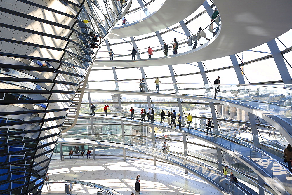 The Dome by Norman Foster, Reichstag Parliament Building, Berlin, Germany, Europe - 806-352