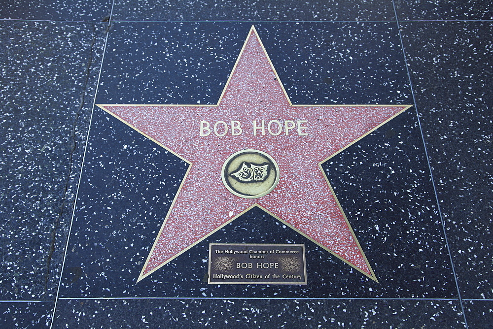 Bob Hope, Star, Hollywood Walk of Fame, Hollywood Boulevard, Hollywood, Los Angeles, California, United States of America, North America