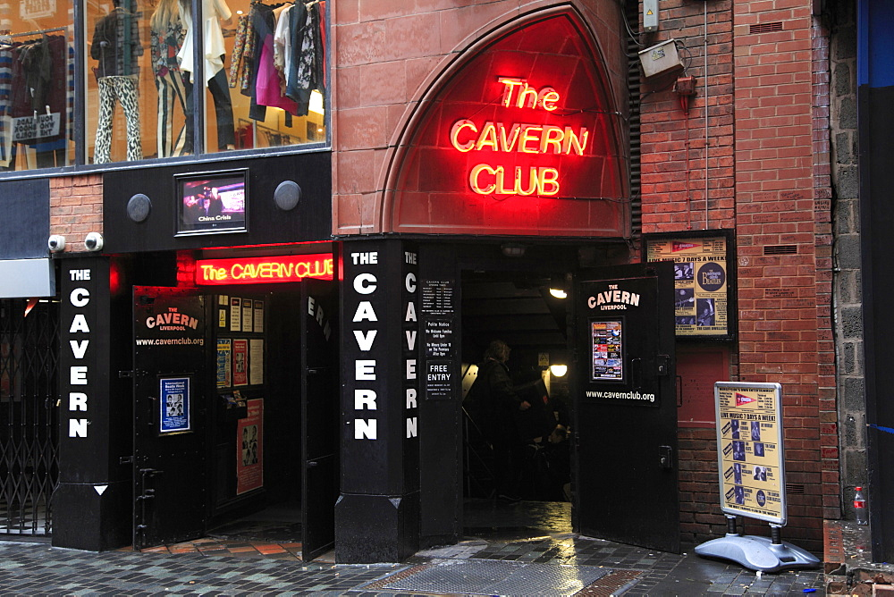 Cavern Club, Mathew Street, Liverpool, Merseyside, England, United Kingdom, Europe