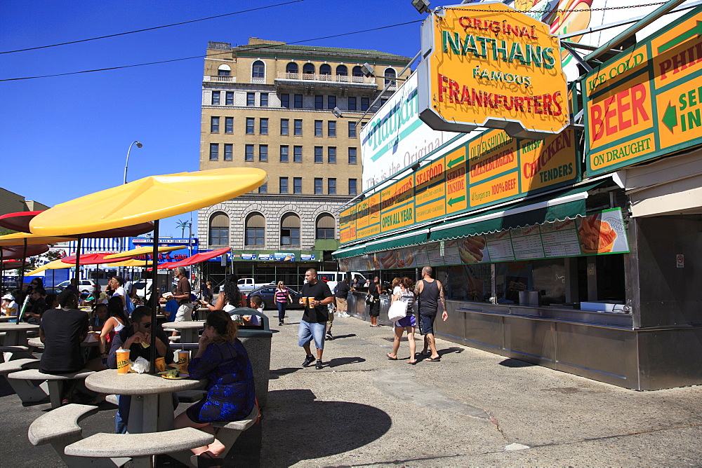 Nathans Famous Hot Dogs, Coney Island, Brooklyn, New York City, United States of America, North America