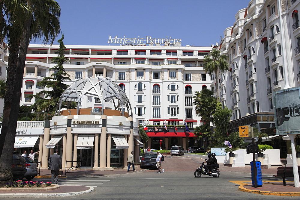 Majestic Barriere Hotel, La Croisette, Cannes, Cote d'Azur, Provence, French Riviera, France, Europe