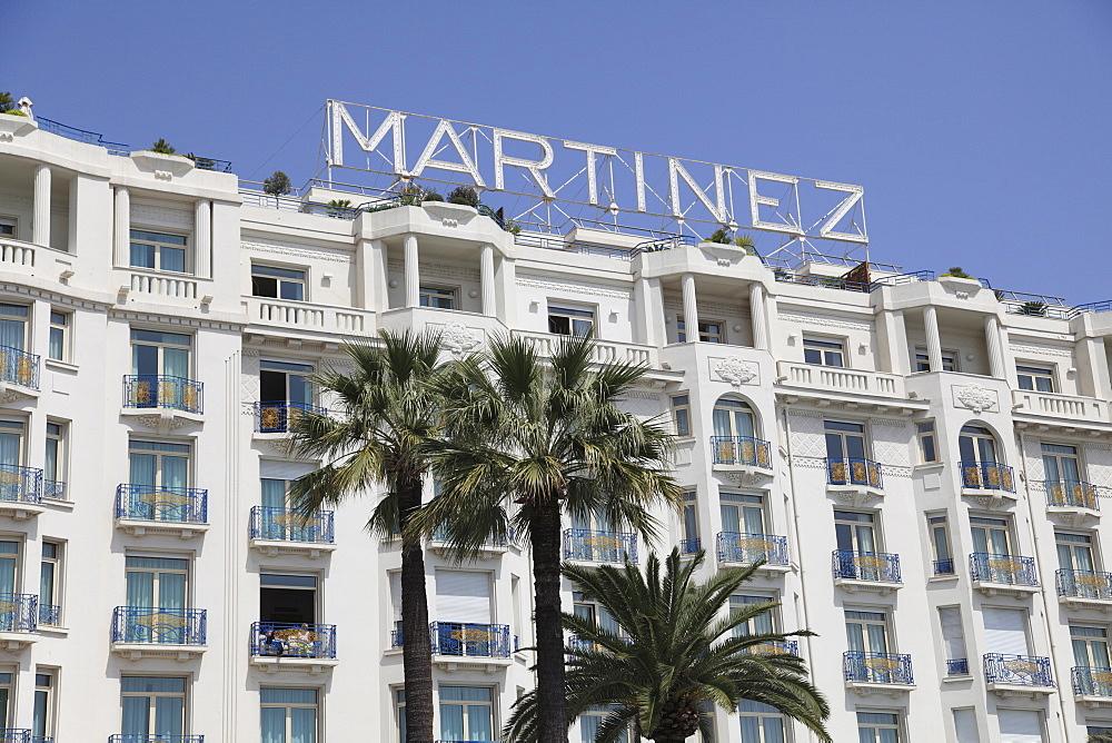 Hotel Martinez, La Croisette, Cannes, Cote d'Azur, Provence, French Riviera, France, Europe