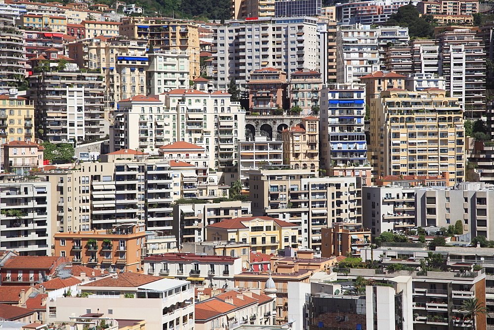 Highrises, Monte Carlo, Monaco, Cote d'Azur, Mediterranean, Europe