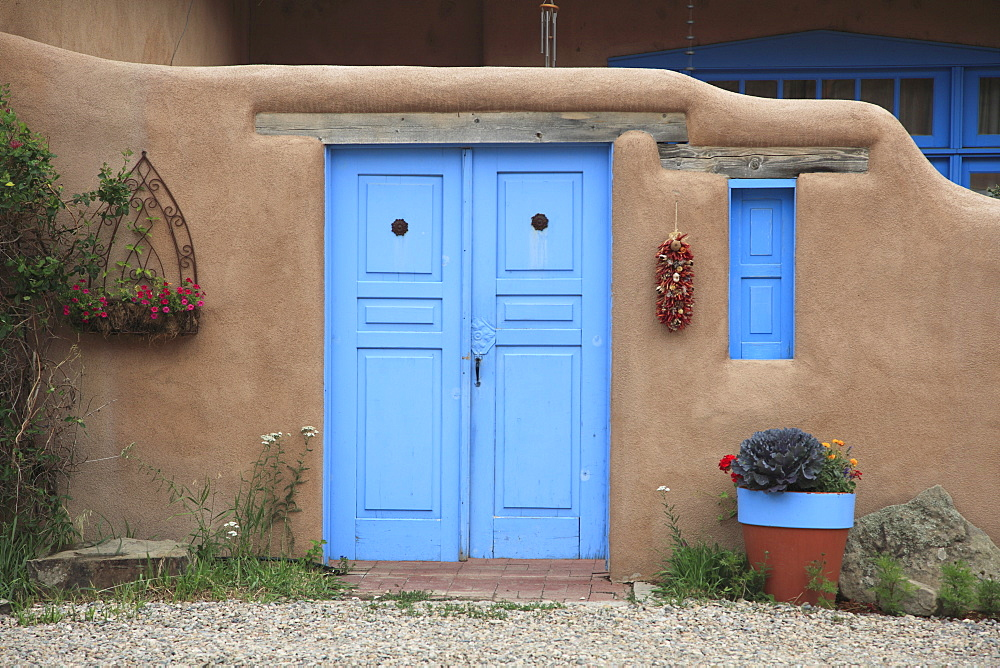 Adobe architecture, Taos, New Mexico, United States of America, North America
