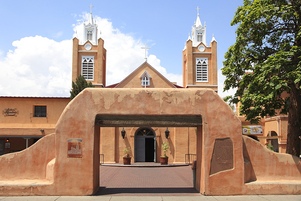 San Felipe de Neri Church, Old Town, Albuquerque, New Mexico, United States of America, North America