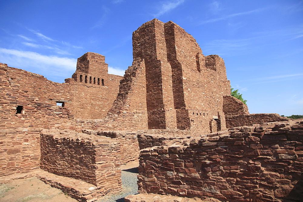 Church, Quarai, Salinas Pueblo Missions National Monument, Salinas Valley, New Mexico, United States of America, North America