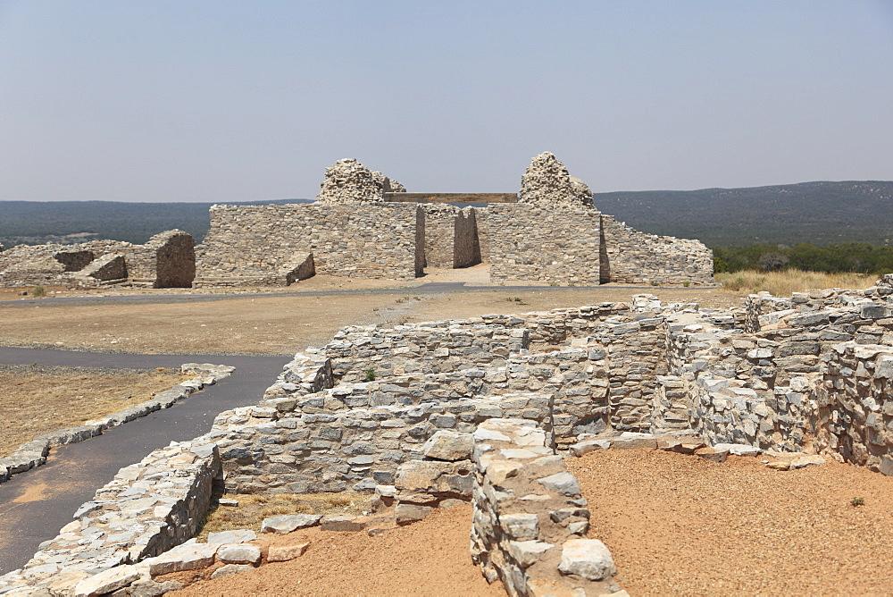 Church ruins, Gran Quivira, Salinas Pueblo Missions National Monument, Salinas Valley, New Mexico, United States of America, North America