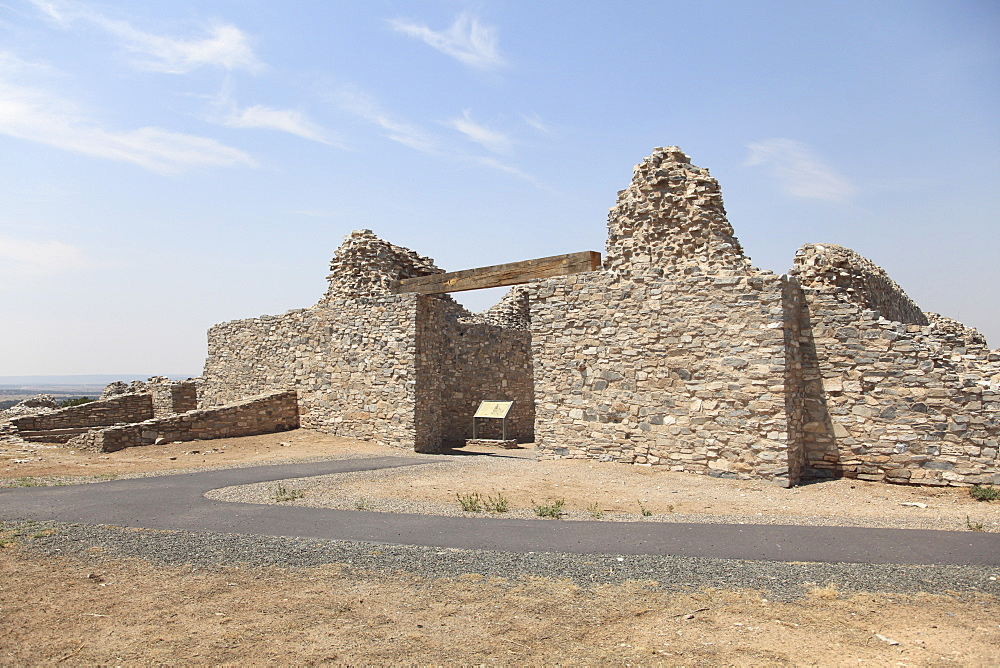 Church ruins, Gran Quivira, Salinas Pueblo Missions National Monument, Salinas Valley, New Mexico, United States of America, North America