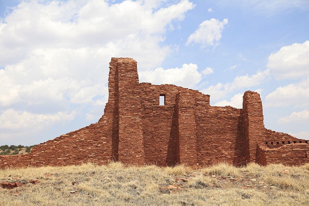 Ruins of church, Abo, Salinas Pueblo Missions National Monument, Salinas Valley, New Mexico, United States of America, North America